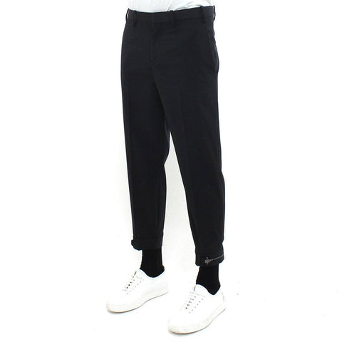 Mens - Neil Barrett Cropped Zip Trouser Black