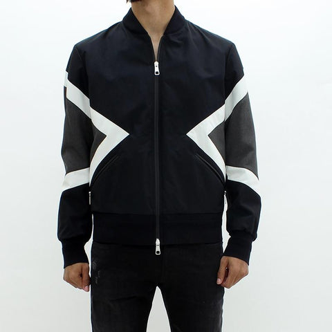 Mens - Neil Barrett Graphite Bomber Jacket Black