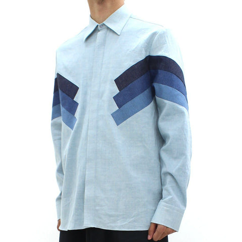 Mens - Neil Barrett Modernist Retro Shirt Blue