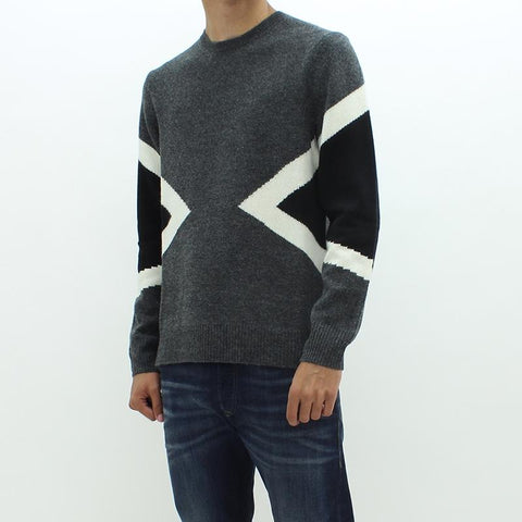 Mens - Neil Barrett Triangle Knitwear Jumper Grey