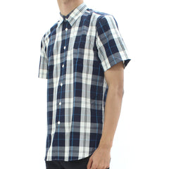 Paul Smith Ps Ss Check Shirt Navy