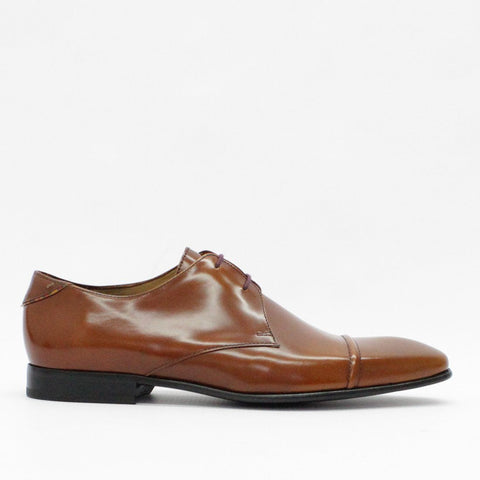 Mens - Paul Smith Shoes Derby High Shine Tan