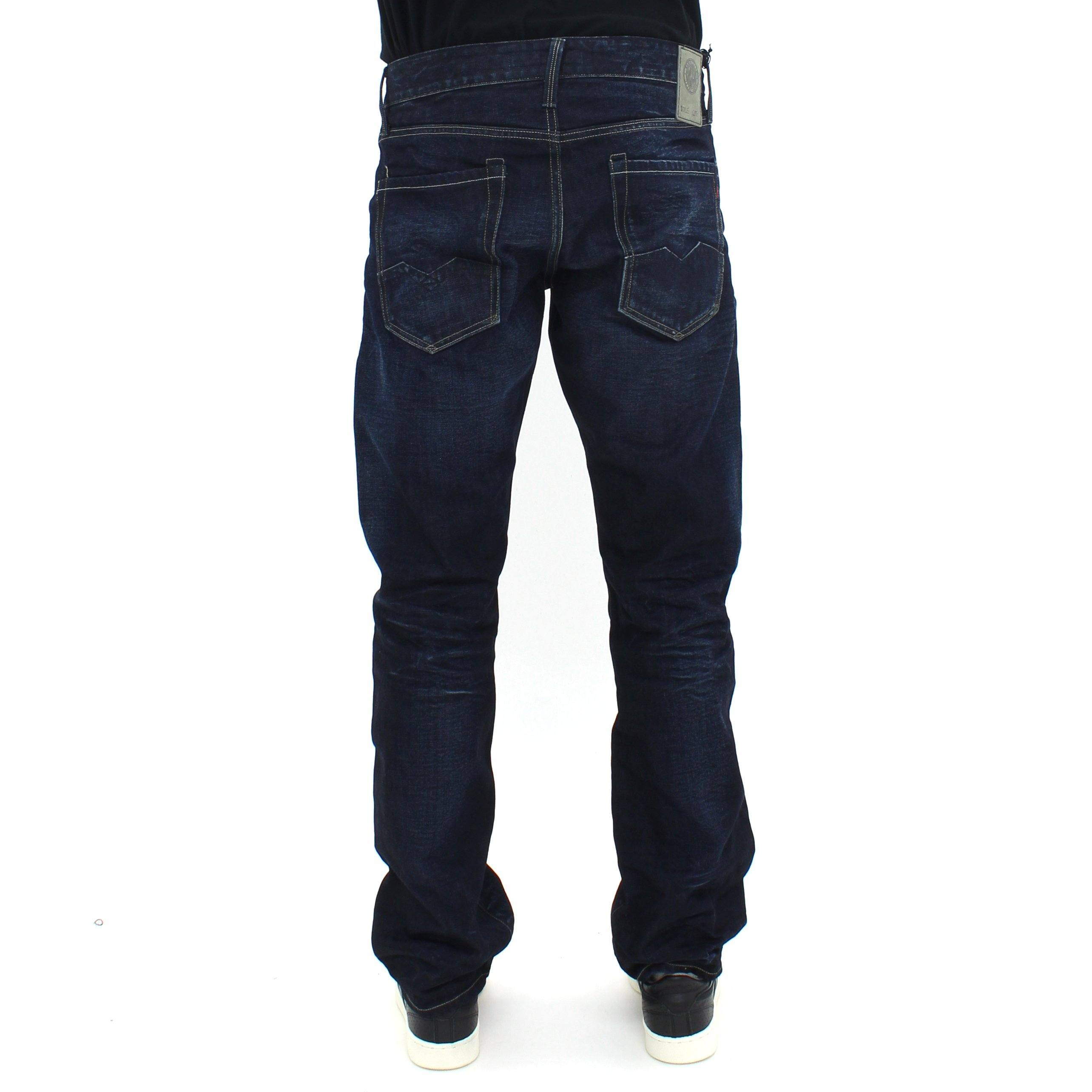 Replay Waitom 3D Whisker Dark Jean Denim