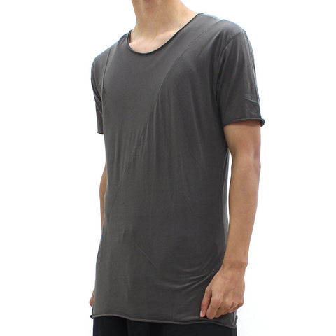 Mens - Thom Krom SS Cut And Sew Tee Brown