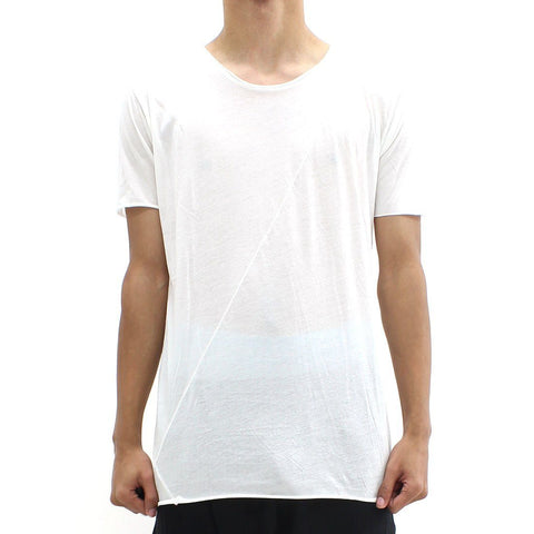 Mens - Thom Krom SS Cut And Sew Tee White