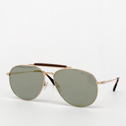 Mens - Tom Ford Sean Aviator Sunglasses Rose Gold