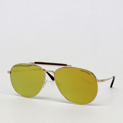 Mens - Tom Ford Sean Mirror Aviator Sunglasses Gold