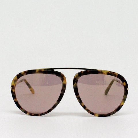 Mens - Tom Ford Stacy Horn Aviator Sunglasses Brown