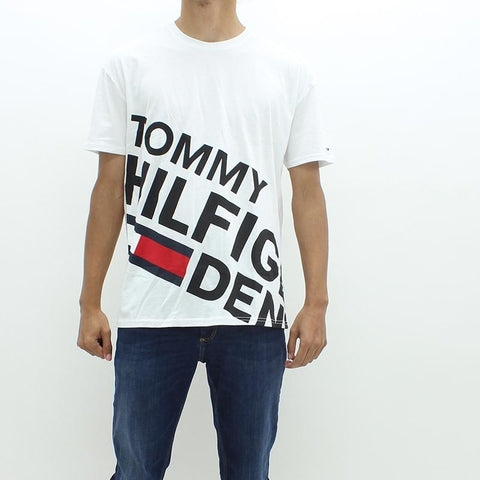Mens - Tommy Hilfiger Denim THDM Big Logo Tee White