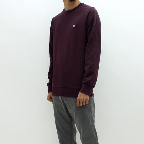 Mens - True Religion Doubleface Crew Sweat Burgundy