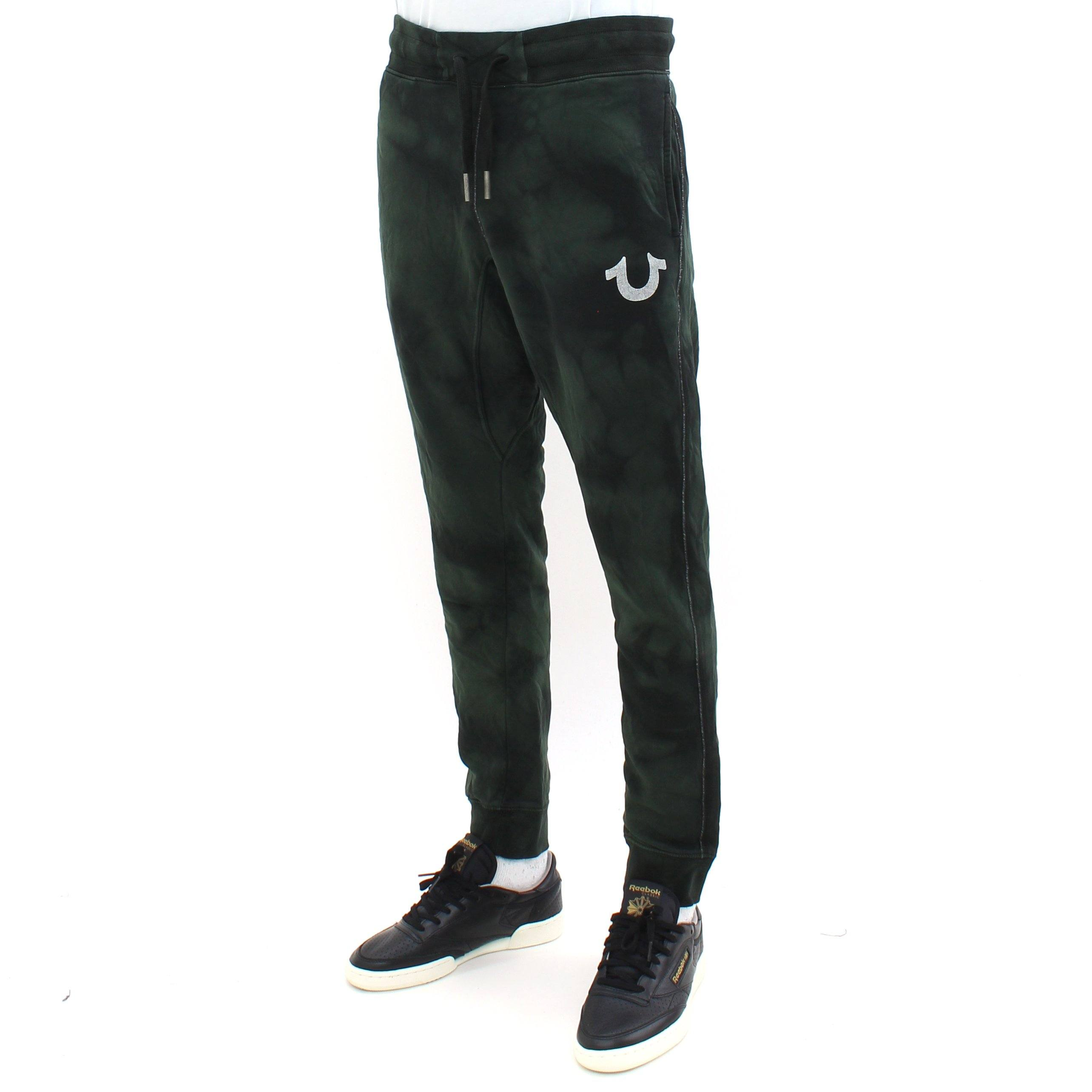 True Religion Moon Wash Track Pants Green