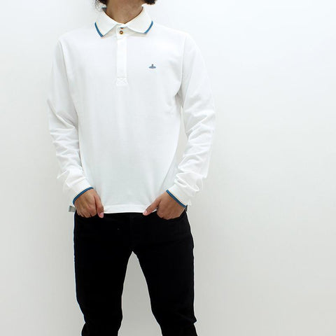 Mens - Vivienne Westwood Classic LS Polo White