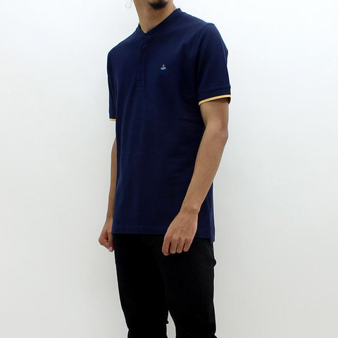 Mens - Vivienne Westwood Granddad SS Polo Navy