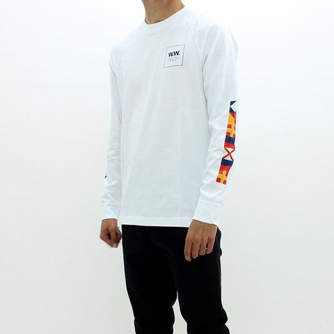 Mens - Wood Wood Han LS Tee White