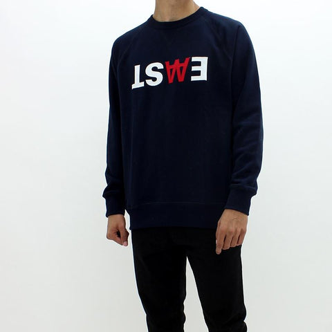 Mens - Wood Wood Haster Sweatshirt Navy