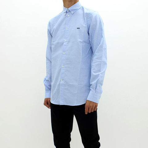 Mens - Wood Wood Timothy Shirt Blue