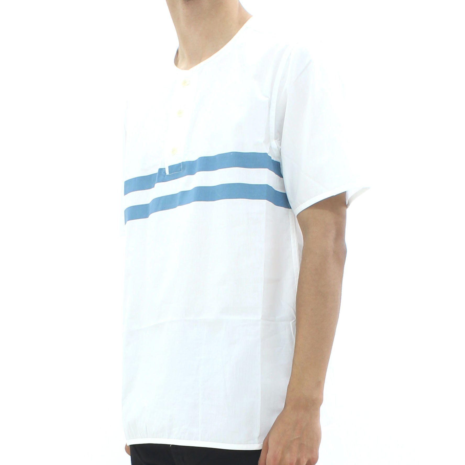 YMC Stripe Surf Shirt White