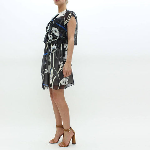 Womens - Aquascutum Floral Print Dress Black
