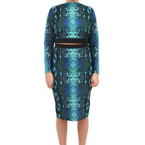Womens - Forever Unique 2 Piece Snake Skirt Dress