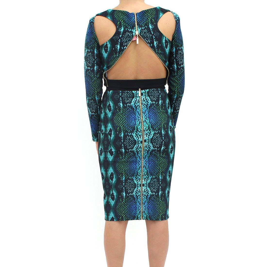 Forever Unique 2 Piece Snake Skirt Dress