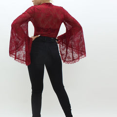 Forever Unique Bonny Lace Bodysuit Red