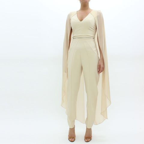 Womens - Forever Unique Cape Jump Suit Ivory