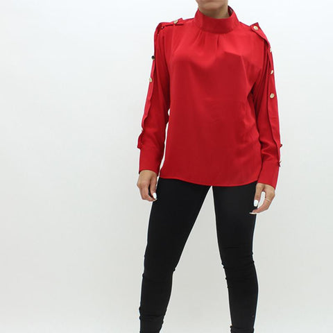 Womens - Forever Unique Daphne Shirt Red