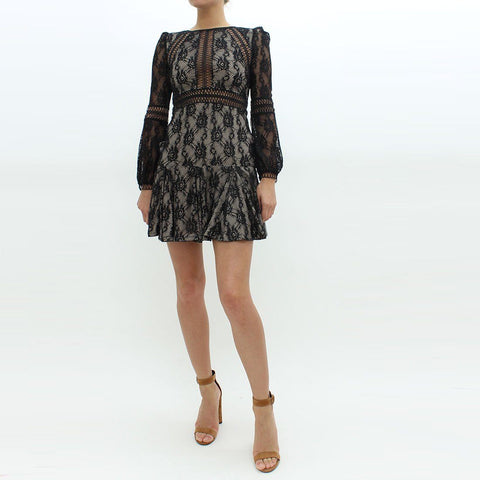 Womens - Forever Unique Lace Drop Hem Dress Black