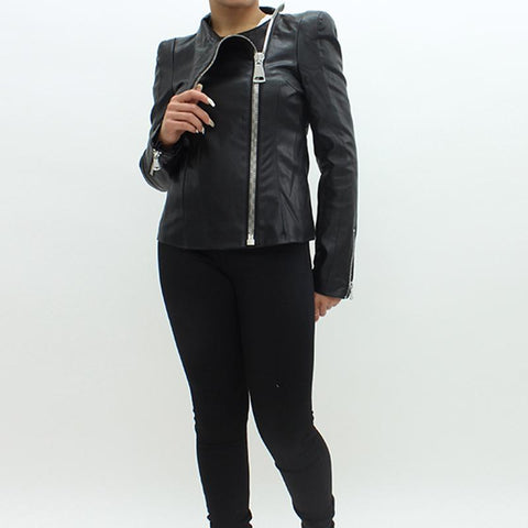 Womens - Forever Unique Lux Leatherette Jacket Black