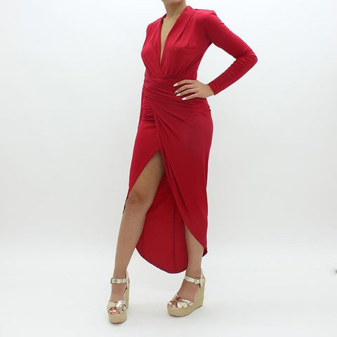 Womens - Forever Unique Midi Dress Red