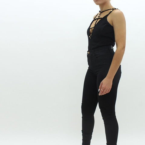 Womens - Forever Unique Sandra Bodysuit Black