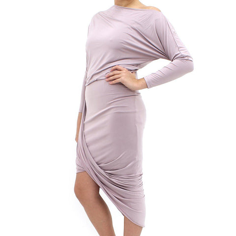 Womens - Forever Unique Silky Rebecca Grey Dress