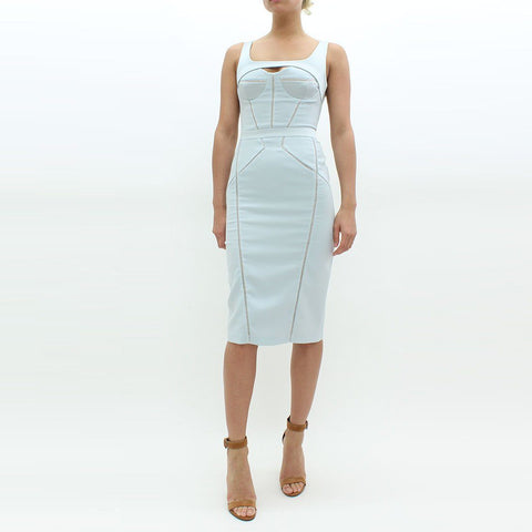 Womens - Forever Unique Structured Bodycon Dress Blue