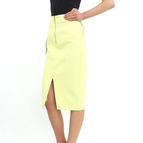 Womens - Forever Unique Wiggle Skirt Yellow