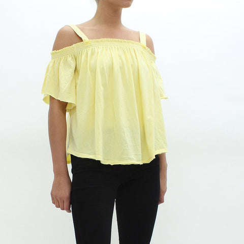 Womens - Free People Darling Top Yellow