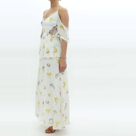 Womens - Free People Floral Maxi Dress Ivory