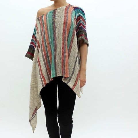 Womens - Free People Fressia Stripe Serape Multicoloured