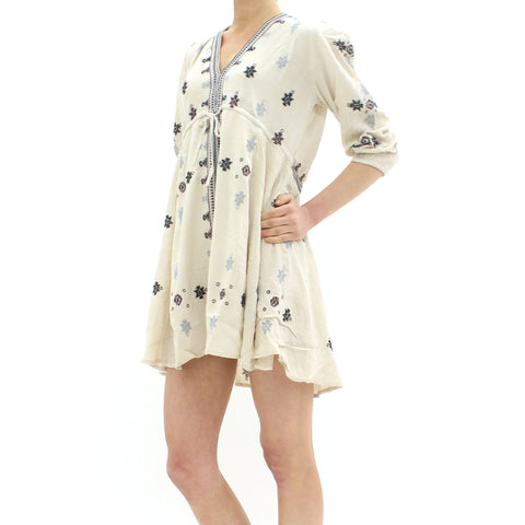 Womens - Free People Star Gazer Dress Beige