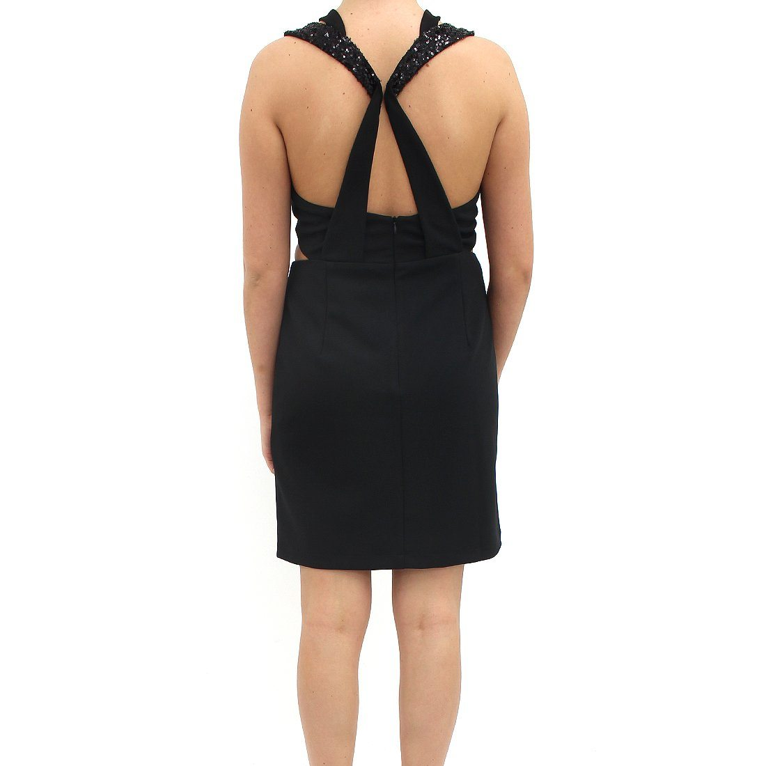 Jovonna Cut Out Top Black Dress