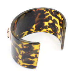 Leaf Jewellery Tortoise Shell Cuff Brown