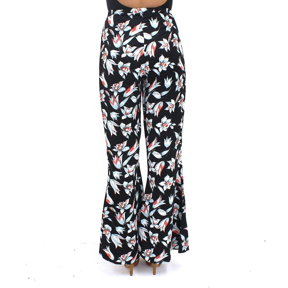 Minkpink Keep Blooming Black Flares
