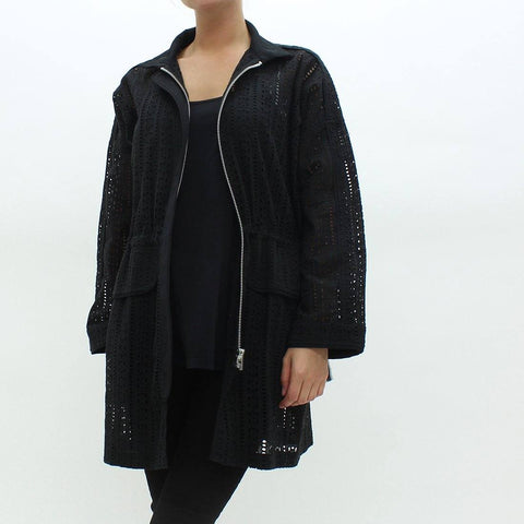 Womens - Religion Broderie Anglaise Jacket Black