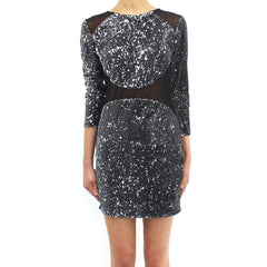 TFNC Bizzie Sequin Mini Dress Black