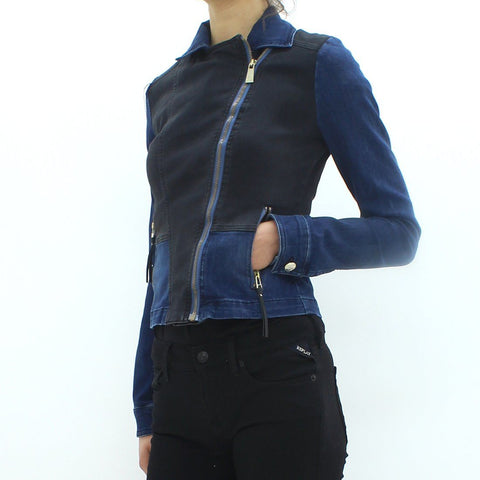 Womens - Versace Jeans Lady Zip Biker Jacket Black