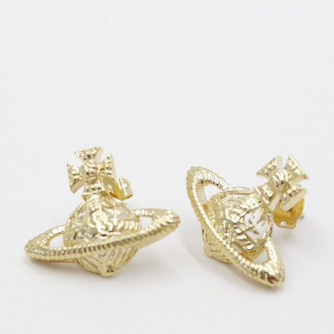 Womens - Vivienne Westwood Dolores Bas Relief Earrings Gold