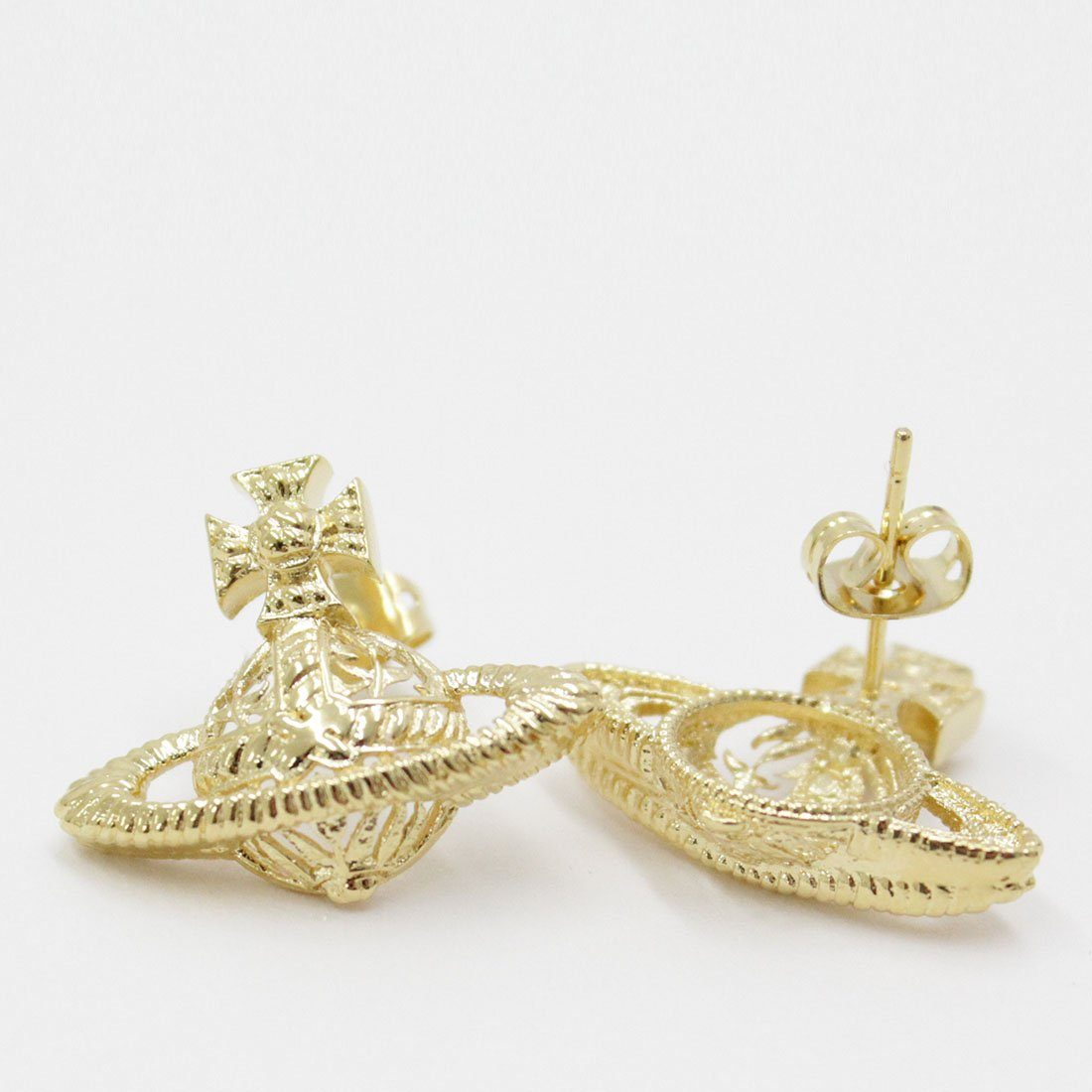 Vivienne Westwood Dolores Bas Relief Earrings Gold