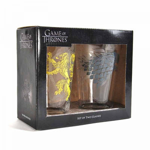 Game Of Thrones Large Glasses (Stark & Lannister)