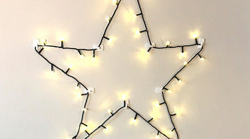 How to Make a DIY Star Decoration With Christmas Lights
