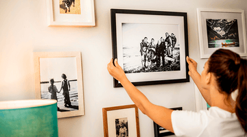 How to Hang Pictures on Plaster Walls Without Nails
