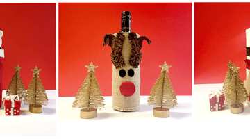 3 Fabulously Festive Ways to Wrap a Wine Bottle
